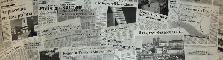 Banner Coleção Recortes de Imprensa da FAUP